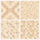 Modèles géométriques abstraits sans couture réglés Images stock