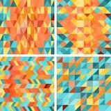Modèles géométriques de colorfull sans couture dans rétro Image libre de droits