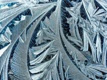 Modèles géométriques de glace de matin Photo libre de droits