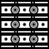 Modèles géométriques de motif abstrait de Sun en noir et blanc, vecteur illustration de vecteur