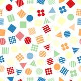 Modèles géométriques primitifs sans couture pour le tissu et les cartes postales Images libres de droits