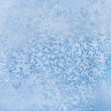 Modèles glacials sur le verre Image libre de droits