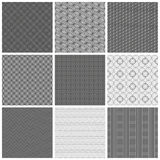 Modèles gris sans couture Photographie stock libre de droits