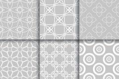 Modèles gris sans couture géométriques Ramassage de milieux Photographie stock