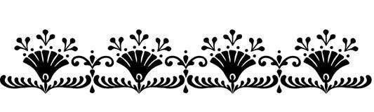 Modèles hongrois de motifs Image libre de droits