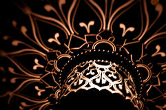 Modèles légers sur l'obscurité. Image stock
