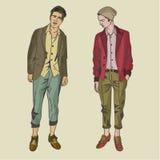 Modèles masculins modernes de hippie Images libres de droits