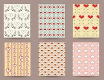 Modèles mignons de vintage pour des cartes postales Image libre de droits