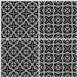 Modèles noirs et blancs 2 illustration stock