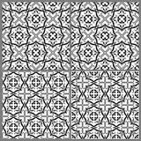Modèles noirs et blancs 1 illustration stock