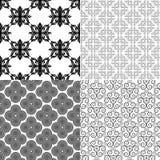 Modèles noirs et blancs de vecteur Photographie stock