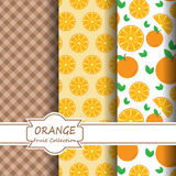 Modèles oranges réglés Photos libres de droits