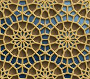 Modèles orientaux islamiques, collection géométrique arabe sans couture d'ornement Fond musulman traditionnel de vecteur est Photographie stock