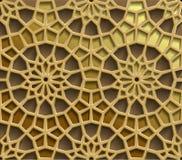 Modèles orientaux islamiques, collection géométrique arabe sans couture d'ornement Fond musulman traditionnel de vecteur est Image stock