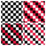 Modèles rayés de damier de zigzag Images libres de droits