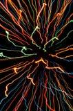 Modèles rayés de lumière de freezelight photographie stock