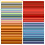 Modèles rayés de tube dans la couleur d'arc-en-ciel au-dessus du blanc Photographie stock