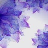 Modèles ronds floraux d'aquarelle Image stock