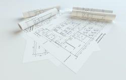 Modèles roulés de Chambre sur Gray Background illustration libre de droits
