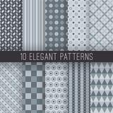 Modèles sans couture élégants gris Vecteur Photo libre de droits