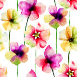 Modèles sans couture avec des fleurs Photo libre de droits