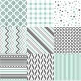 Modèles sans couture avec la texture de tissu Photos stock