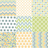 Modèles sans couture avec la texture de tissu Images libres de droits