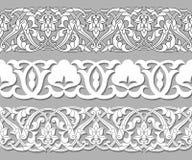 Modèles sans couture d'usine de bande SET dans le style national ethnique de l'Ouzbékistan, Asie Illustration de vecteur illustration de vecteur