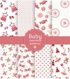Modèles sans couture de bébé. Ensemble de vecteur. Photographie stock