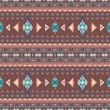 Modèles sans couture de boho ethnique Ornement abstrait de cru Vecteur Photo stock