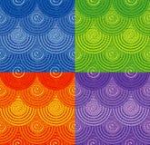 Modèles sans couture de corde avec l'ornement en spirale Photographie stock