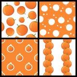 Modèles sans couture de fruit orange réglés Photographie stock