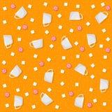 Modèles sans couture de thème de sucrerie illustration stock
