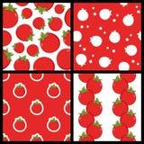 Modèles sans couture de tomate rouge réglés Image stock