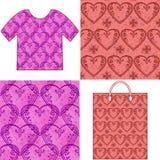 Modèles sans couture de Valentine Photos libres de droits