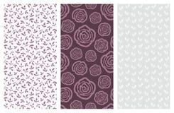 Modèles sans couture de vecteur avec des fleurs et des feuilles Photographie stock libre de droits