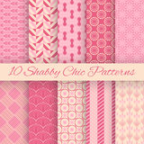 Modèles sans couture de vecteur chic de Shaby Image libre de droits