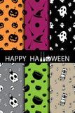 10 modèles sans couture de vecteur différent de Halloween Images stock
