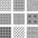 9 modèles sans couture de vecteur différent universel illustration stock