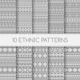Modèles sans couture ethniques illustration stock