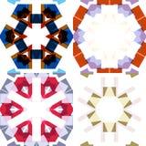Modèles sans couture ethniques plats Photo stock