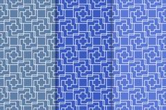 Modèles sans couture géométriques bleus Image stock