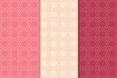 Modèles sans couture géométriques de rouge de cerise Photo libre de droits