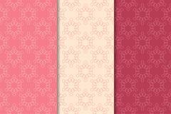 Modèles sans couture géométriques de rouge de cerise Image stock