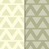 Modèles sans couture géométriques de vert olive Photo libre de droits