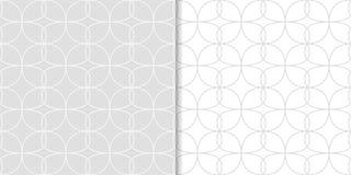 Modèles sans couture géométriques gris-clair Photo libre de droits