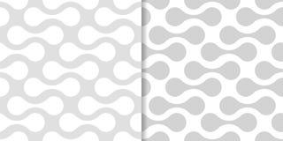 Modèles sans couture géométriques gris-clair Photographie stock