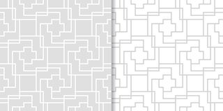 Modèles sans couture géométriques gris-clair Photos libres de droits