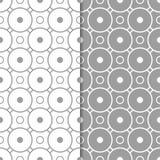 Modèles sans couture géométriques gris et blancs Photo libre de droits
