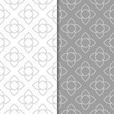 Modèles sans couture géométriques gris et blancs Images libres de droits